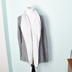 Abercrombie and Fitch Grey and White Cardigan